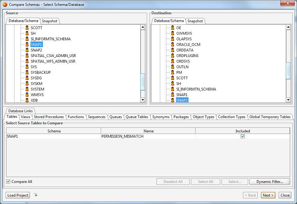 DB Solo Help - Schema Comparison Tool